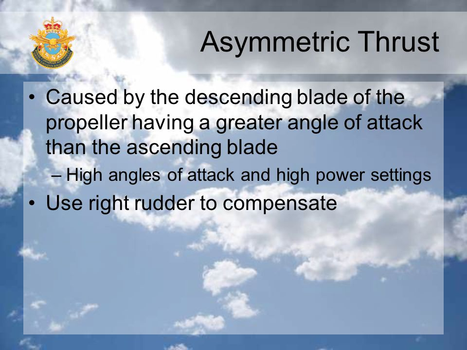 Asymmetric Thrust Caused by the descending blade of the propeller having a greater angle of attack than the ascending blade.