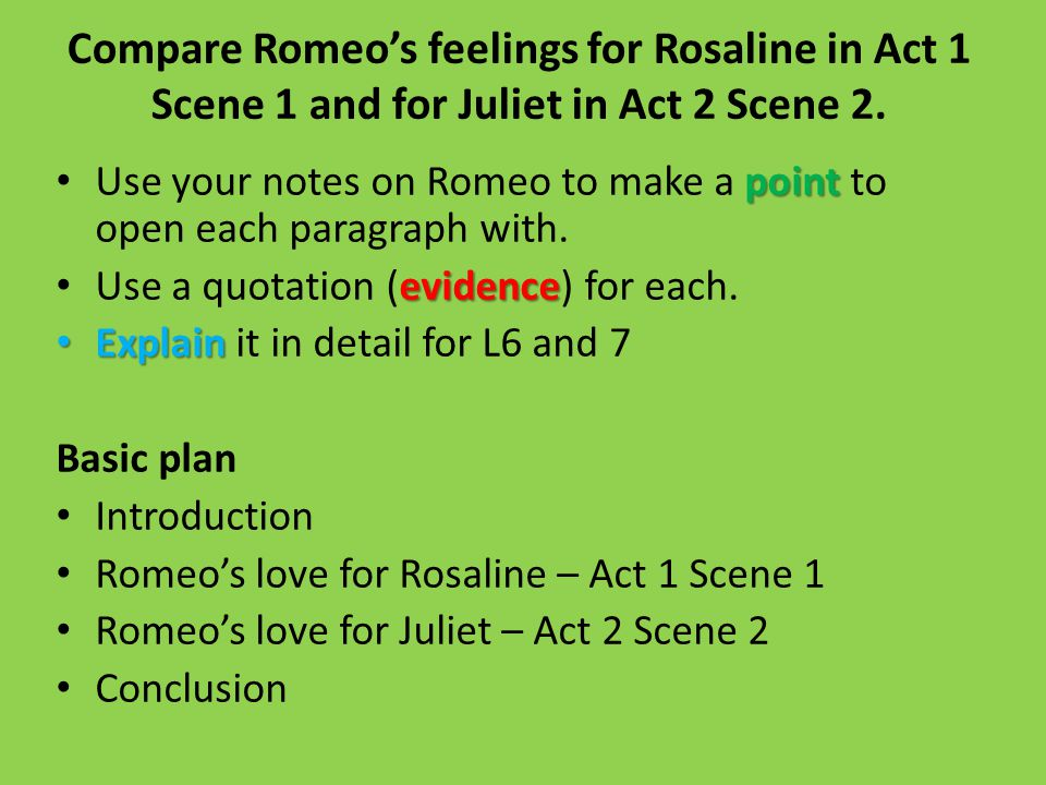 essay question compare romeo u2019s feelings for rosaline in