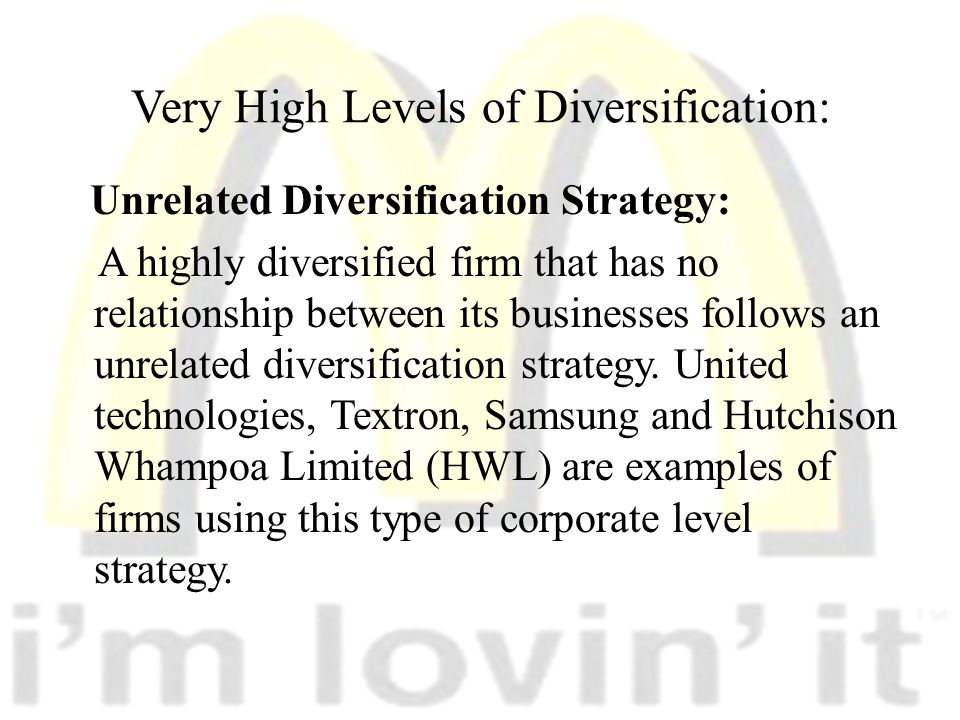 related diversification strategy examples