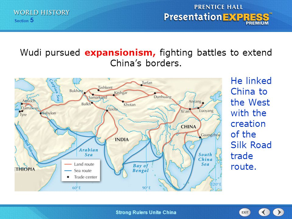 Wudi pursued expansionism, fighting battles to extend China's borders.