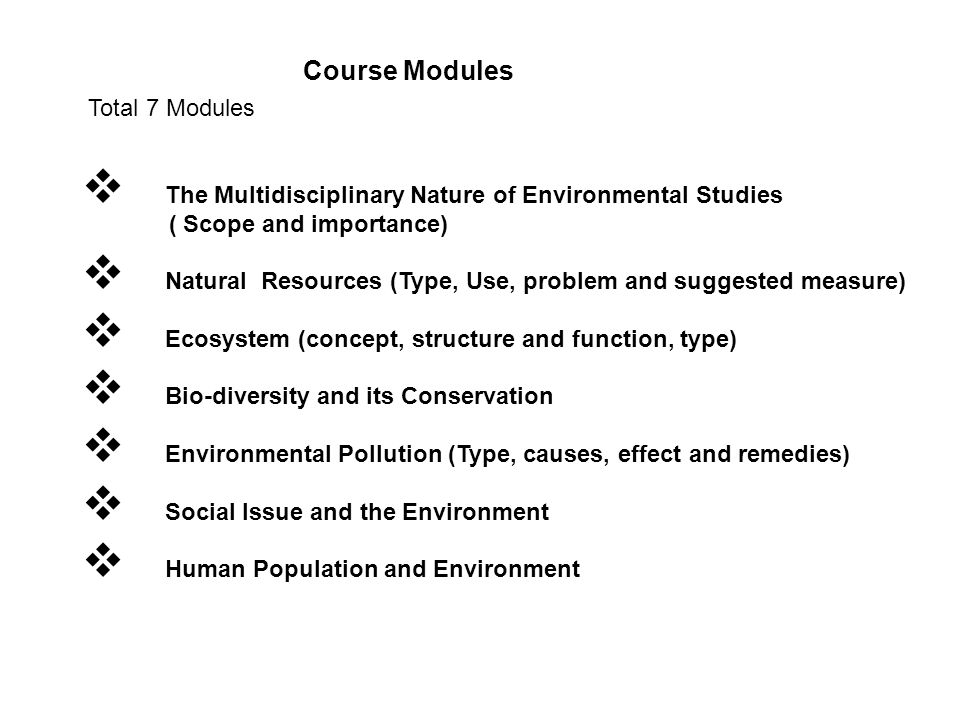 scope and importance of environmental studies