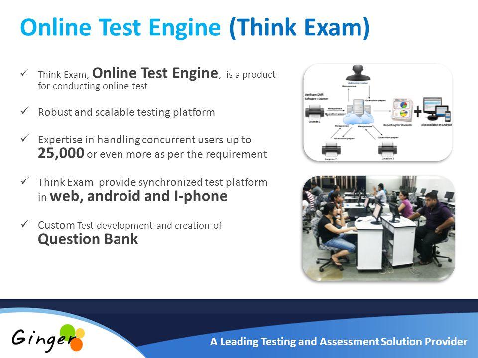 GINGER WEBS PVT  LTD  A Leading Testing and Assessment