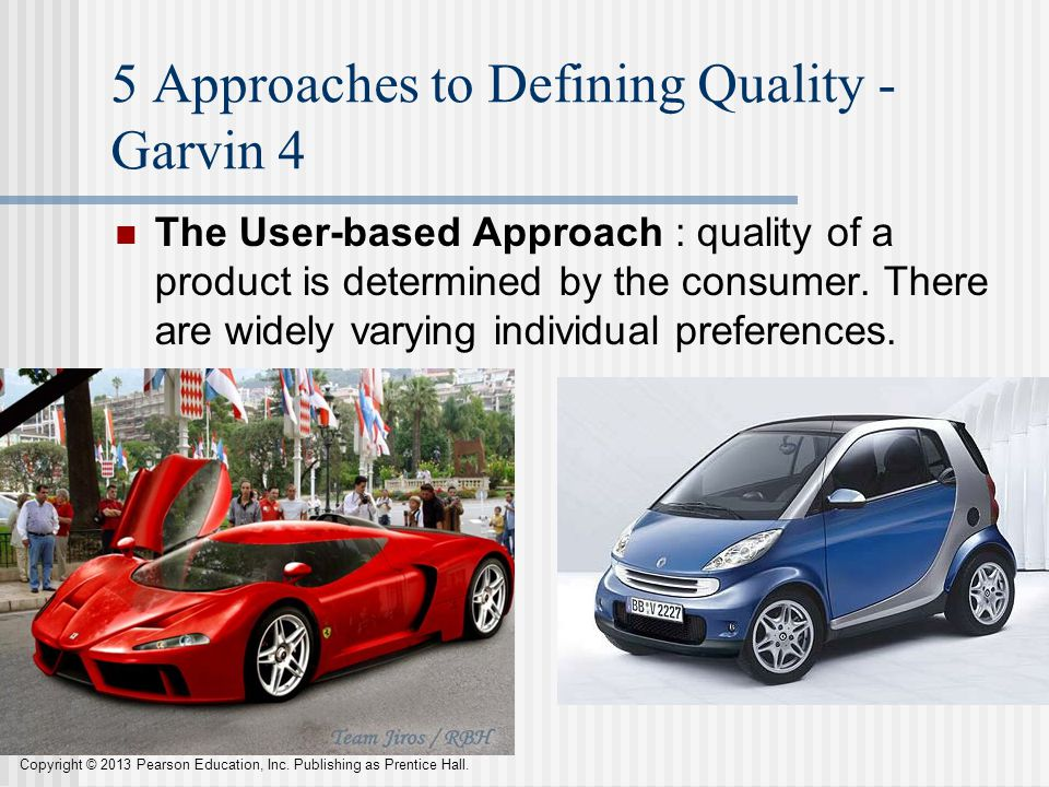 5 Approaches to Defining Quality - Garvin 4