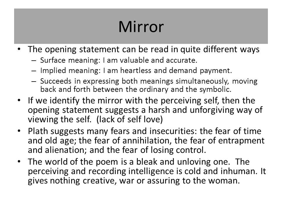 mirror sylvia plath paraphrase