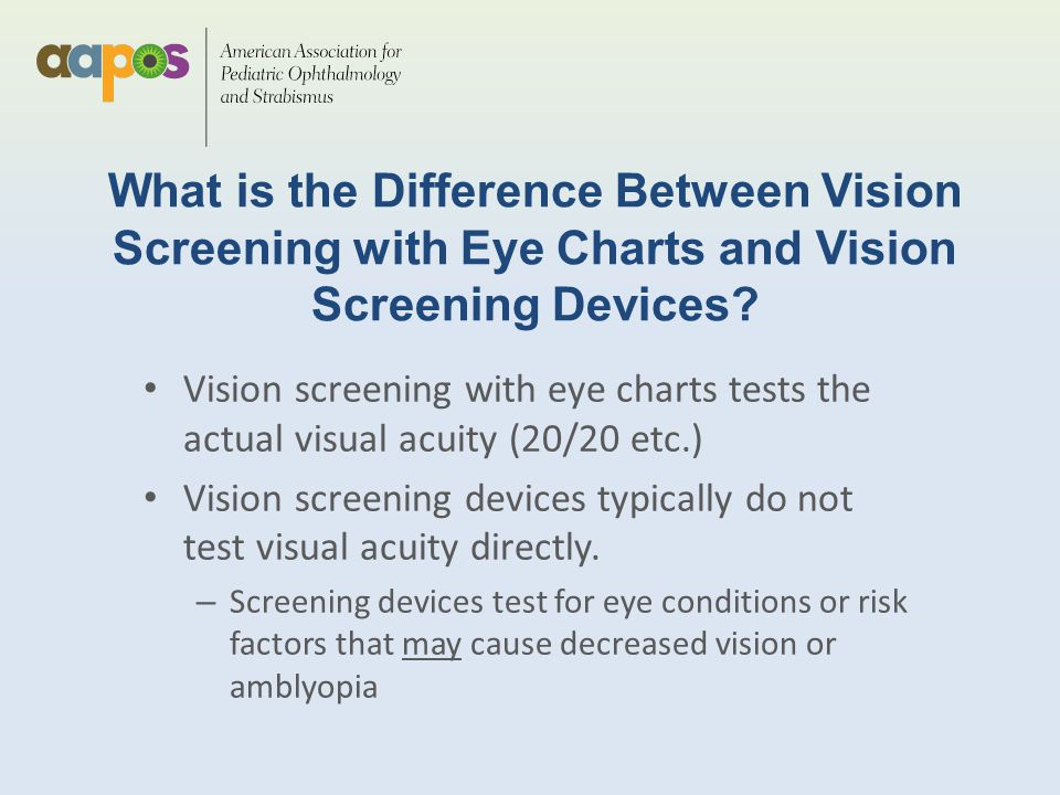 Pediatric Vision Screening Ppt Download