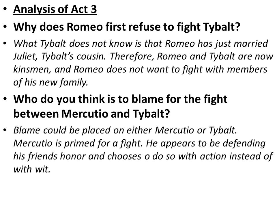 why do romeo and tybalt fight
