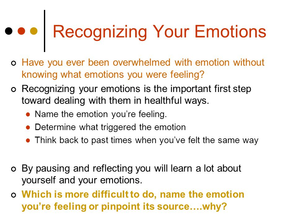 Recognizing Your Emotions