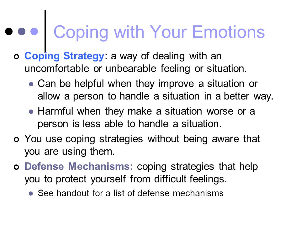 Coping with Your Emotions