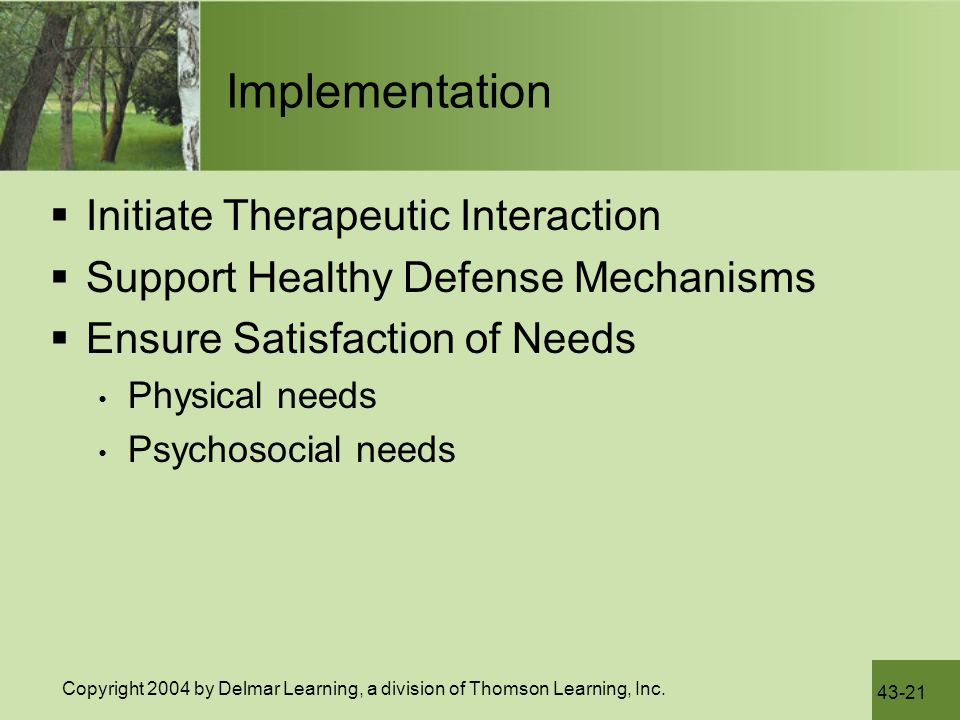 Implementation Initiate Therapeutic Interaction