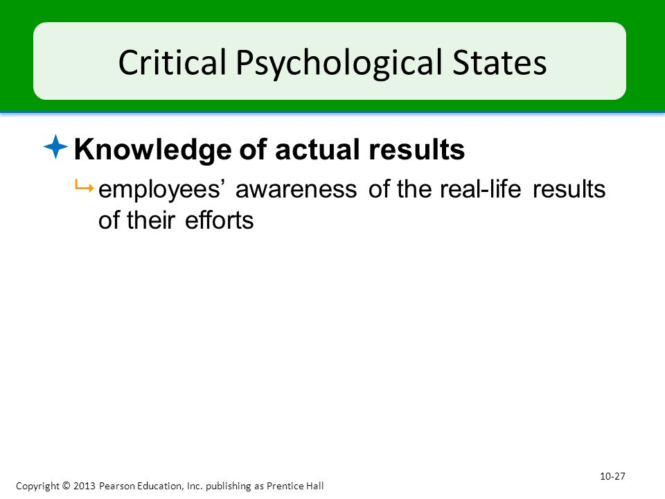 Critical Psychological States