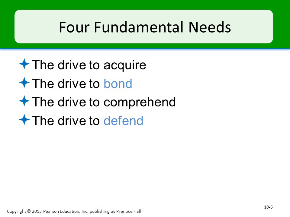 Four Fundamental Needs
