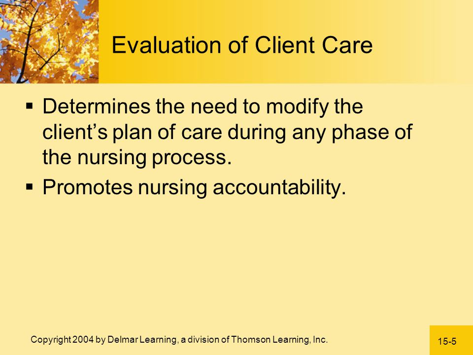 Evaluation of Client Care