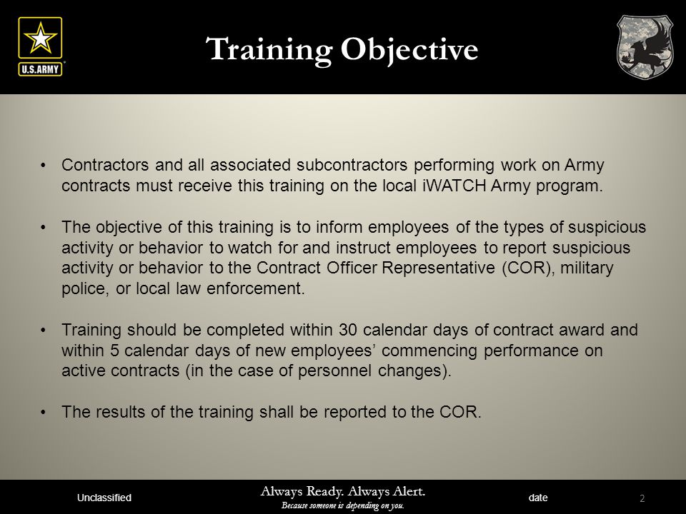 Iwatch army training for contractors see something say something 2 training objective contractors toneelgroepblik Image collections