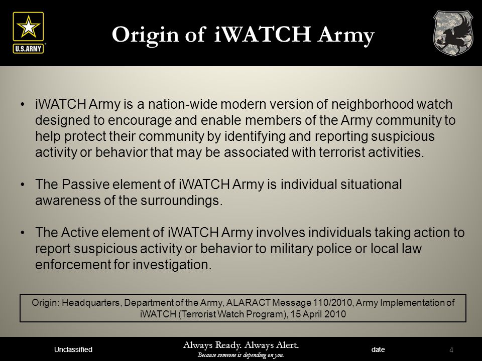 Origin of iWATCH Army