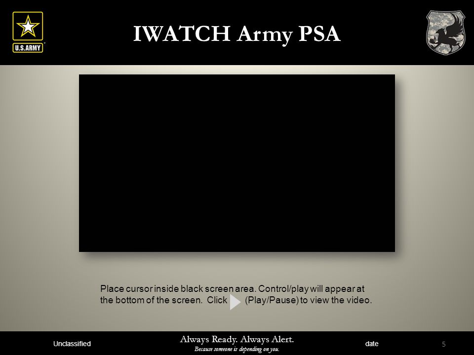 IWATCH Army PSA