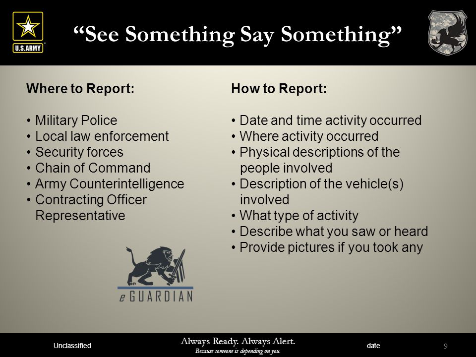 See Something Say Something