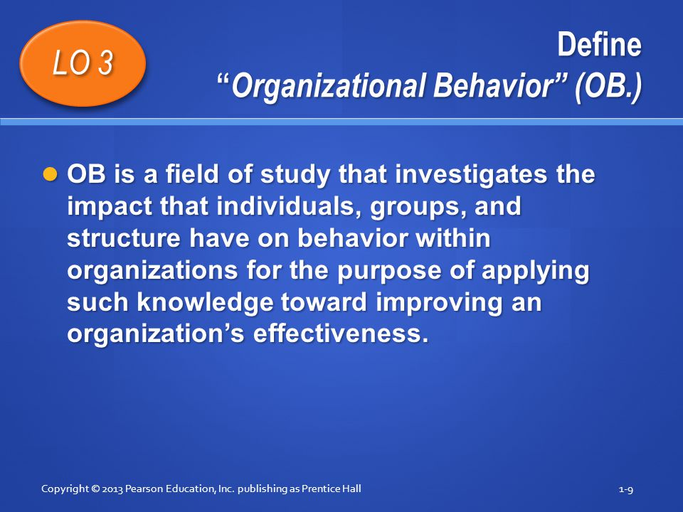 field organizational behaviour Organizational behavior is an academic discipline concerned with describing, understanding, predicting, and controlling human behavior in an organizational environment the field is particularly.