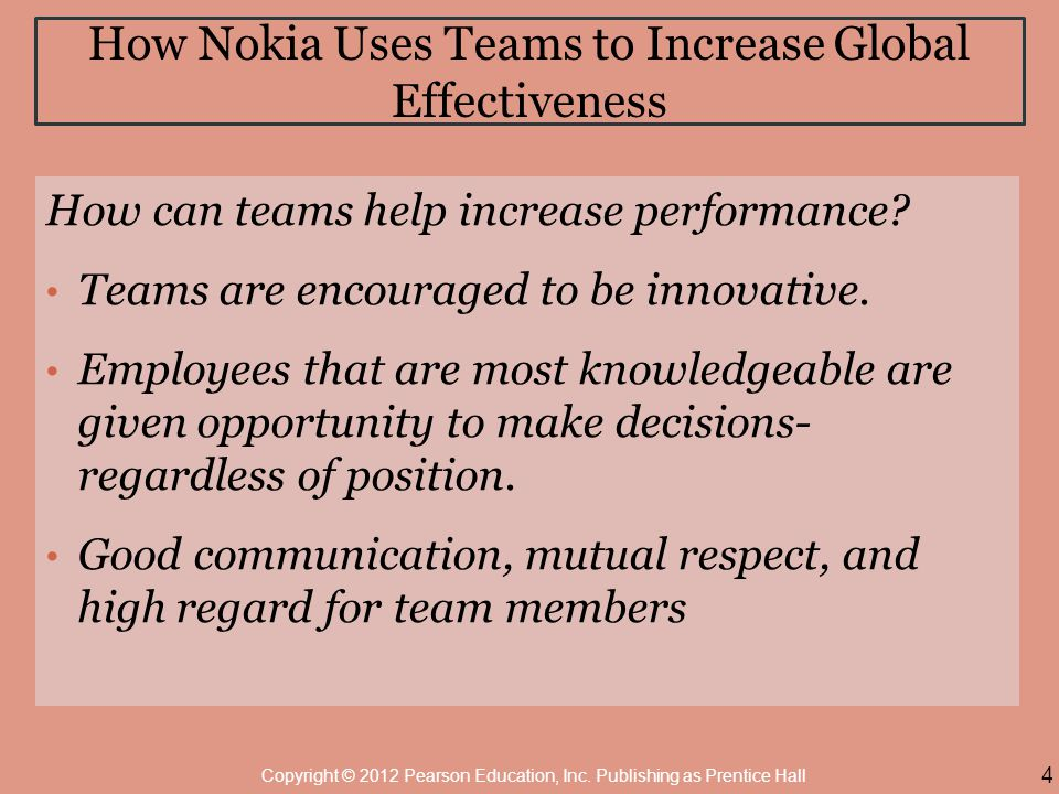 How Nokia Uses Teams to Increase Global Effectiveness