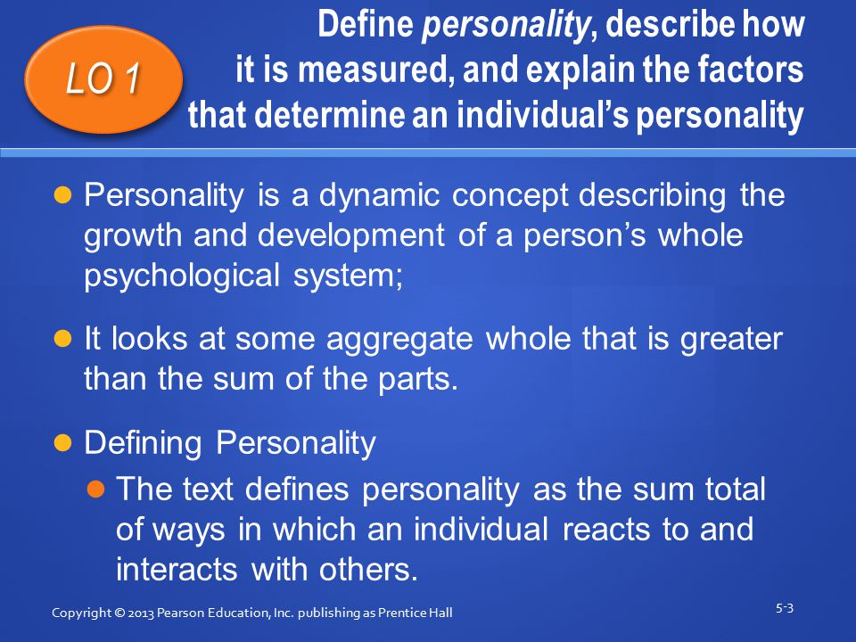 what factors determine personality