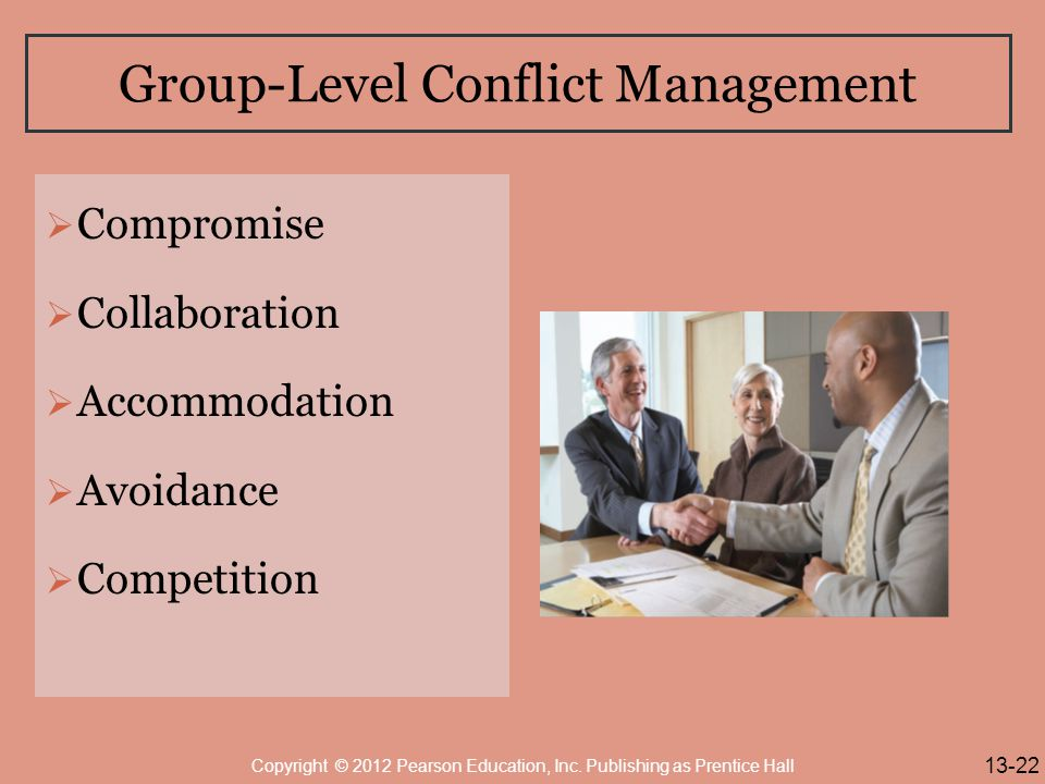 Group-Level Conflict Management
