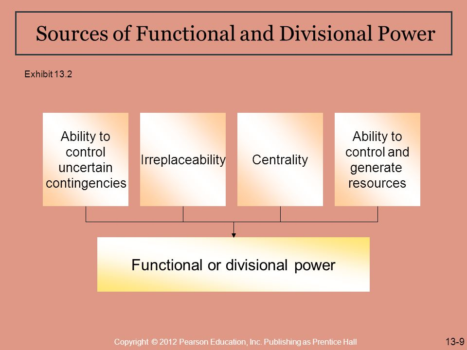 Sources of Functional and Divisional Power