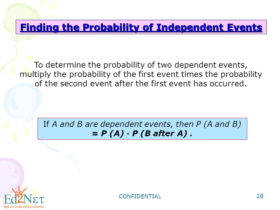 Finding the Probability of Independent Events