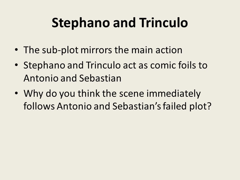 stephano and trinculo