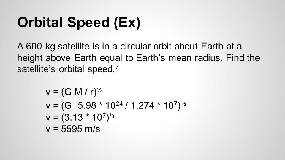 Orbital Speed (Ex)