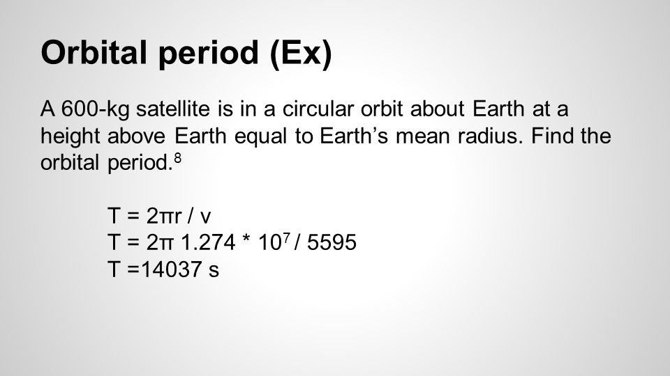 Orbital period (Ex)