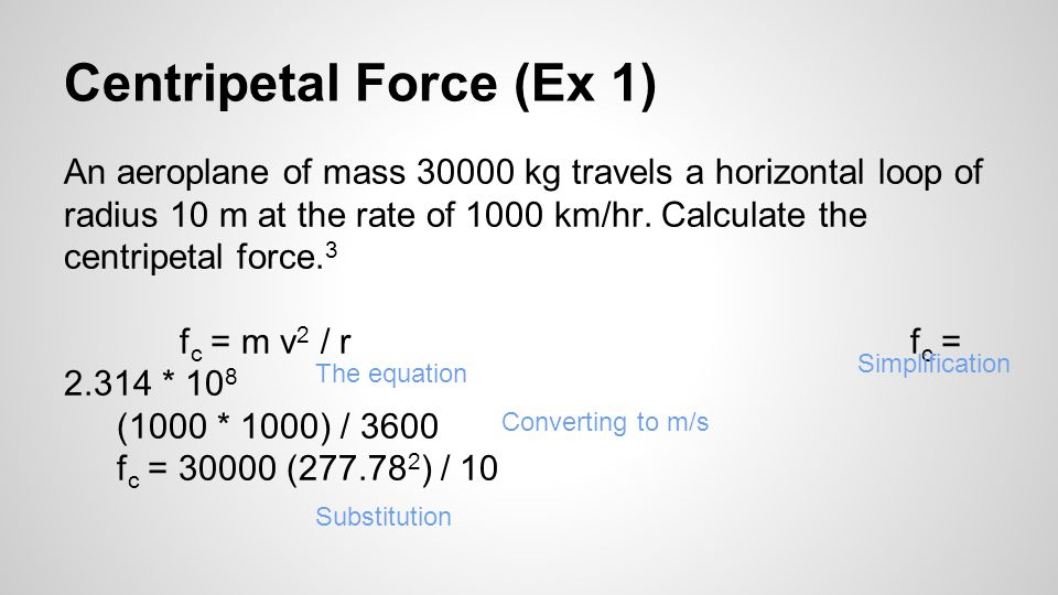 Centripetal Force (Ex 1)