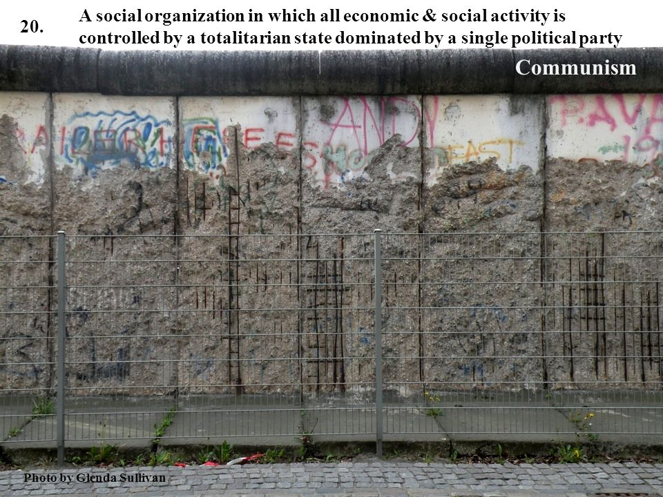 A social organization in which all economic & social activity is