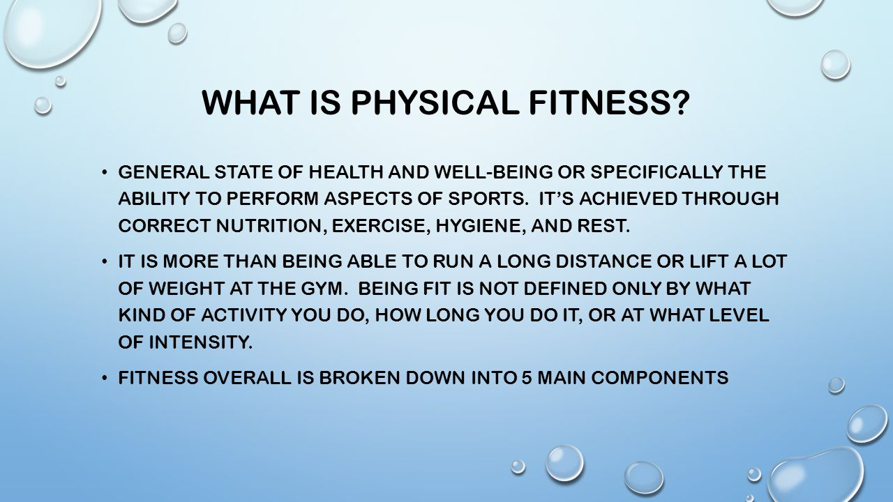 What is fitness 32