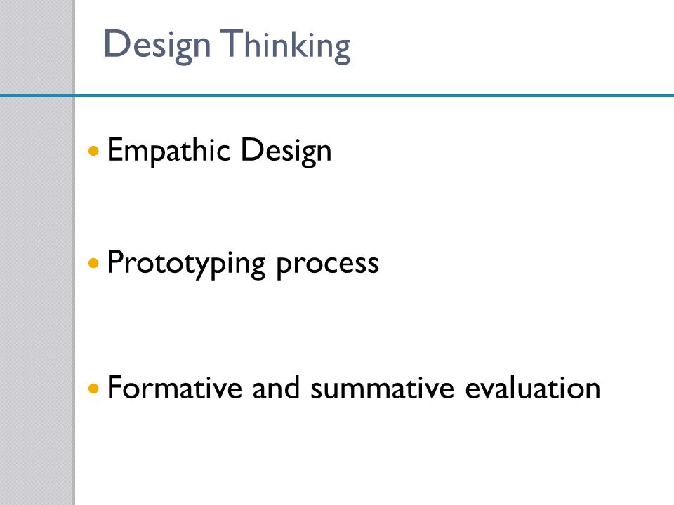 Design Thinking Empathic Design Prototyping process