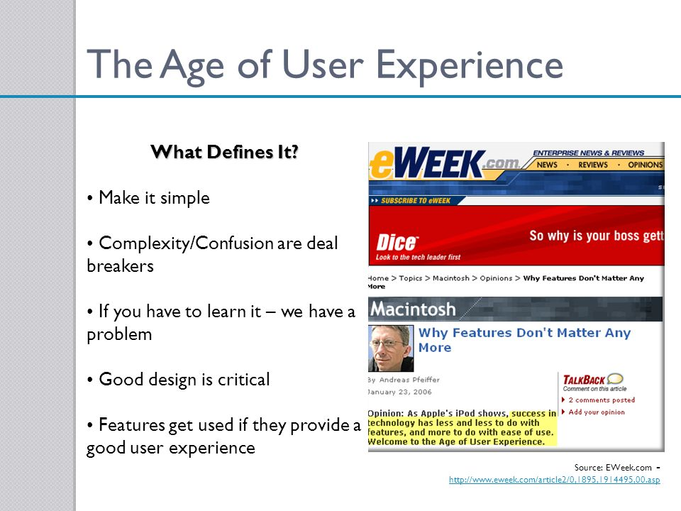 The Age of User Experience