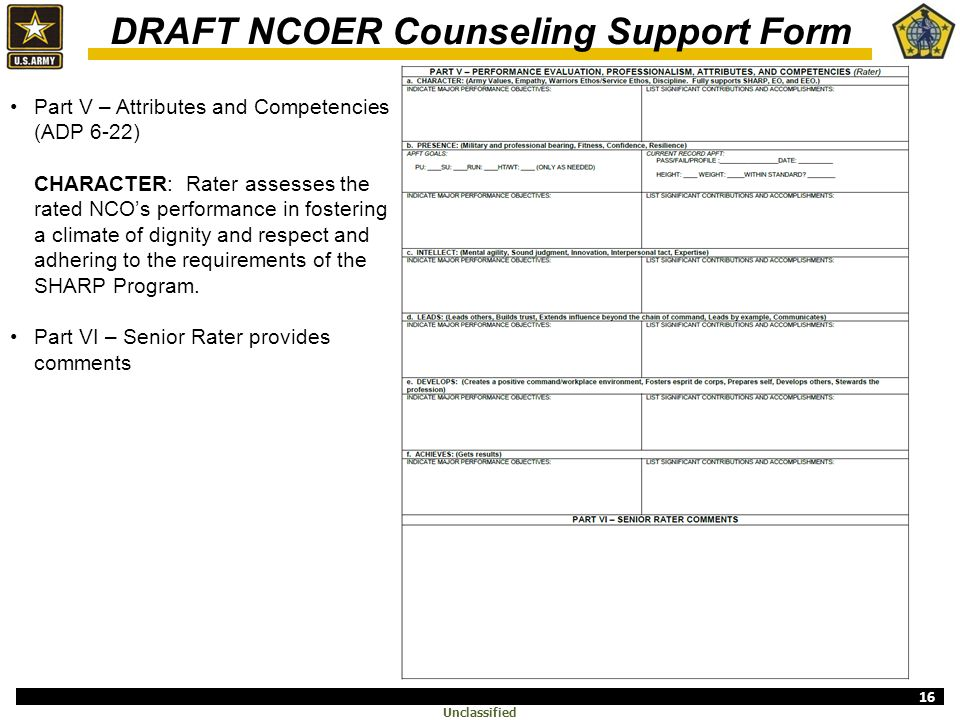Ncoer Revision Executive Brief Ppt Video Online Download