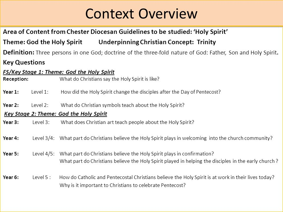 The Holy Spirit Key Stage ppt download