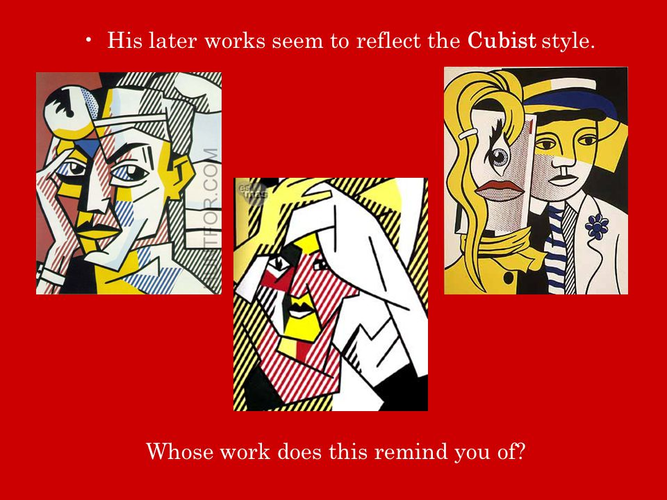 His later works seem to reflect the Cubist style.