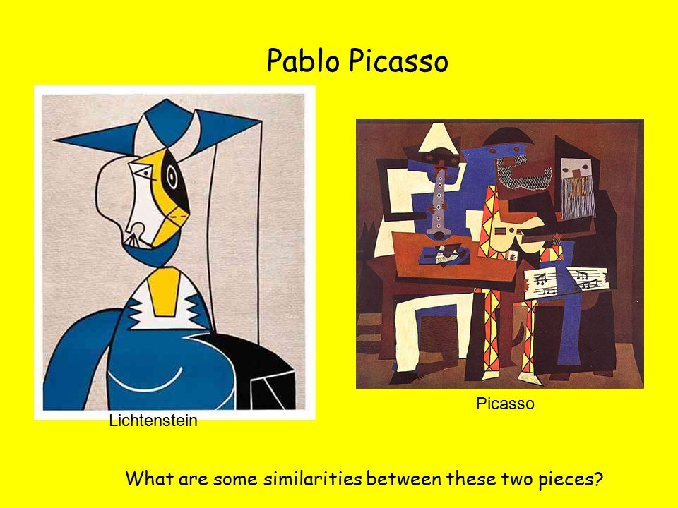 Pablo Picasso What are some similarities between these two pieces