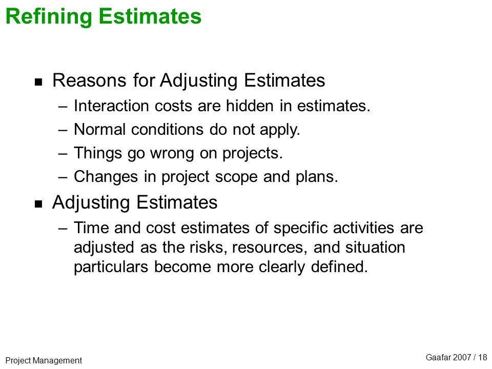Time and Cost Estimation - ppt download