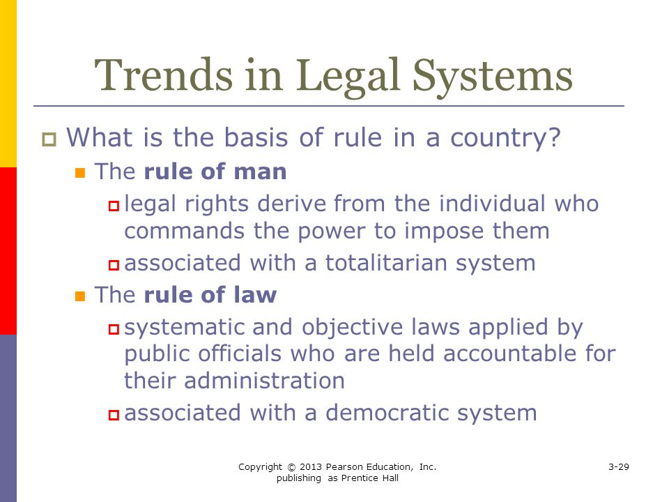 Trends in Legal Systems