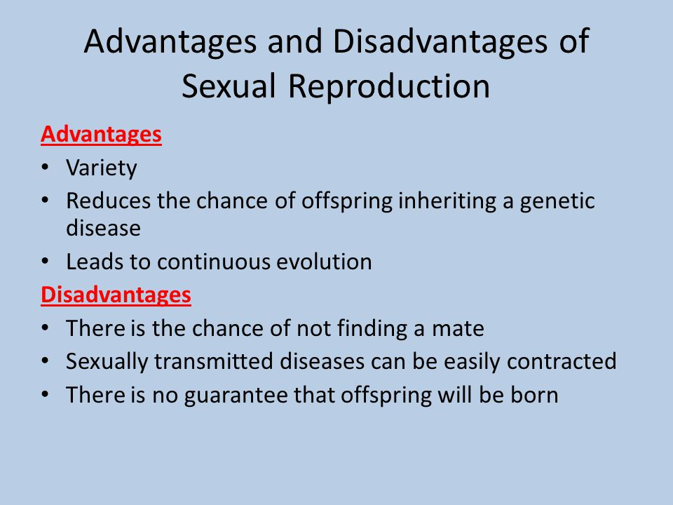 Disadvantages of asexual reproduction in humans