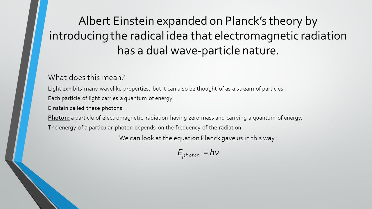 We can look at the equation Planck gave us in this way: