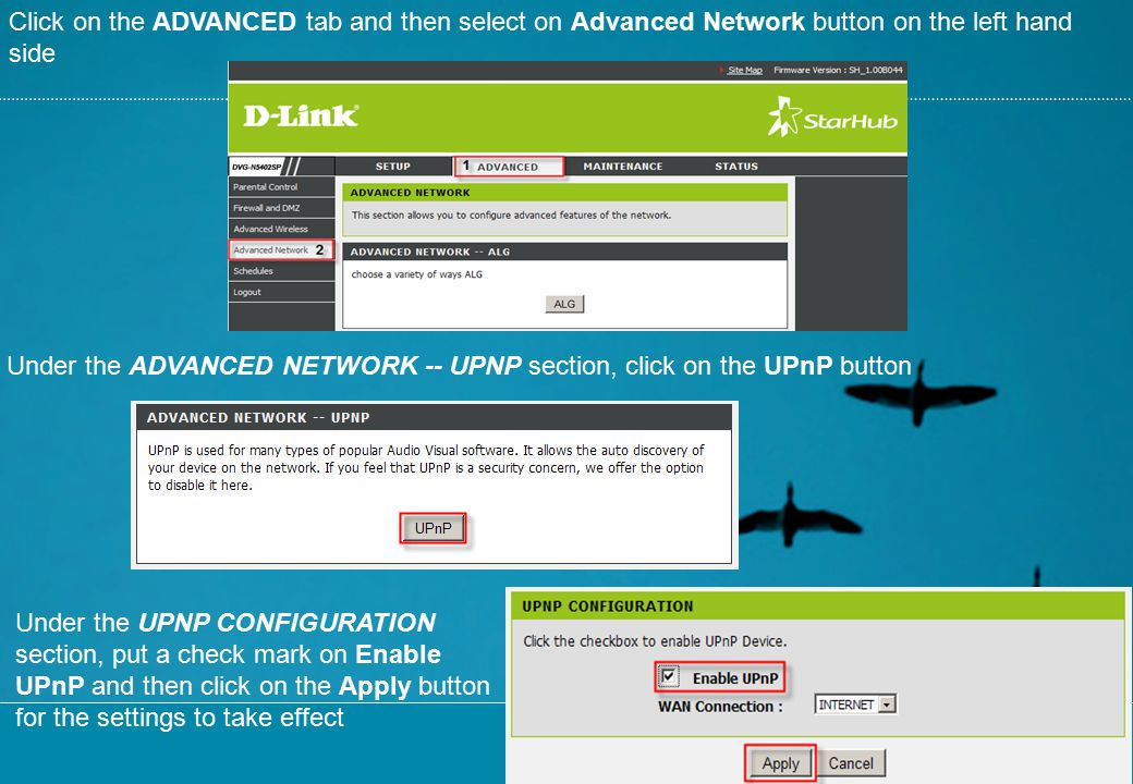 Click on the ADVANCED tab and then select on Advanced Network button on the left hand side