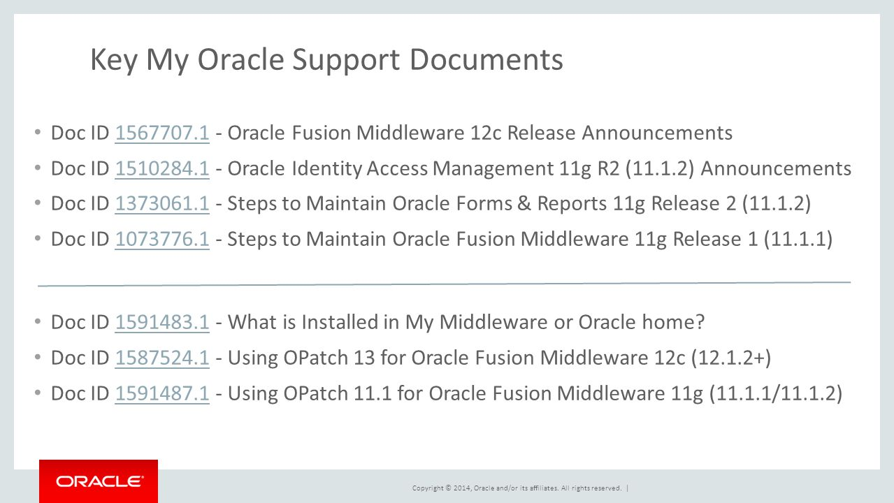Best Practices for Maintaining Oracle Fusion Middleware