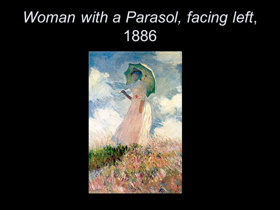 Woman with a Parasol, facing left, 1886
