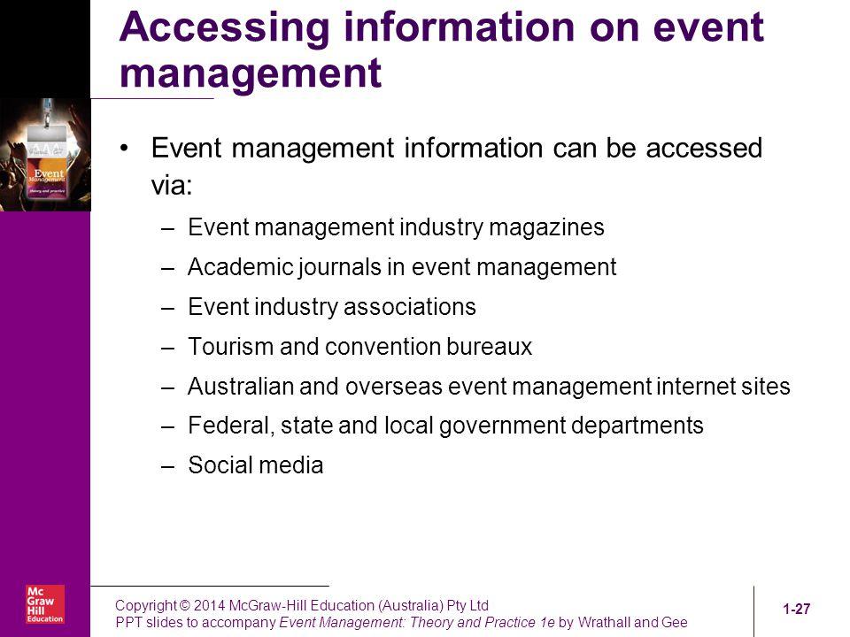Event management services.