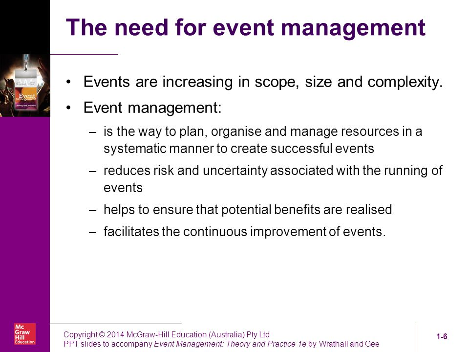 Introduction to Event Management ppt video online download