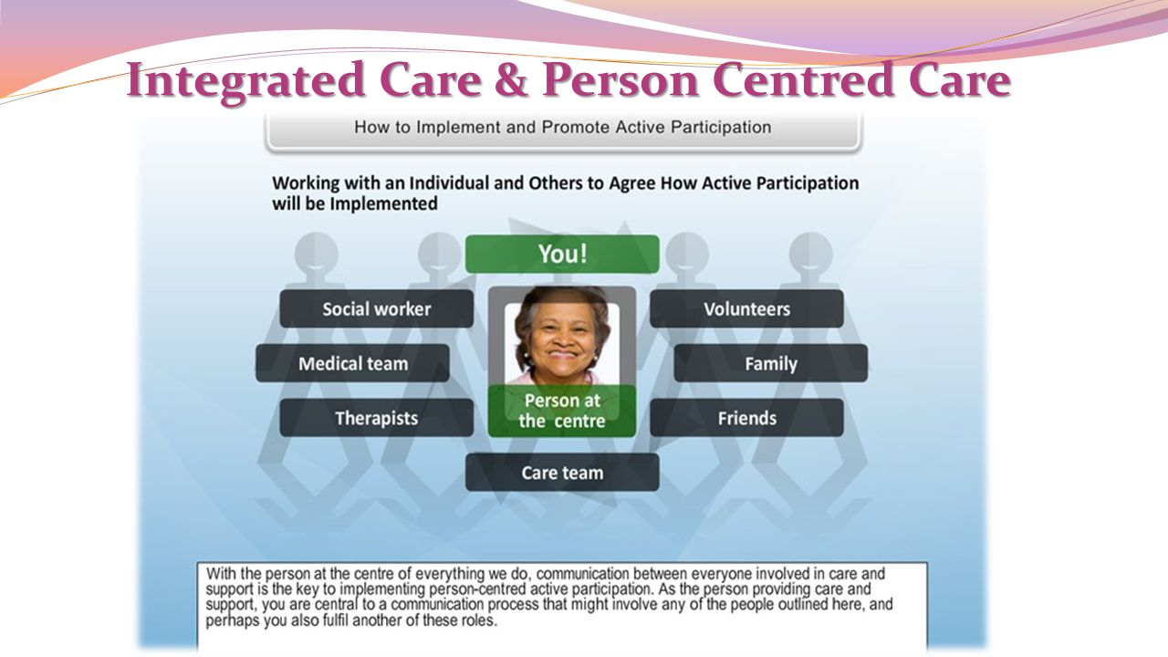 Integrated Care & Person Centred Care