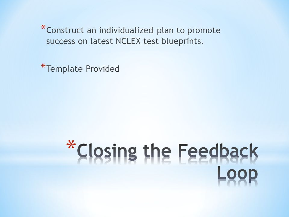 Nclex test plan changes implications for instruction ppt video 18 closing malvernweather Gallery