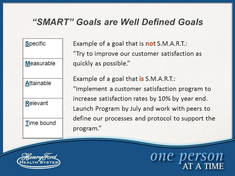 s m a r t  goals aligning goals calibrating goals